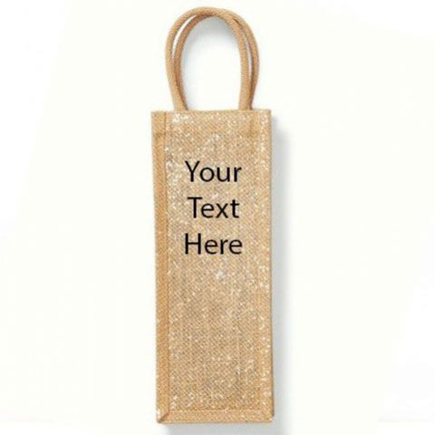 Personalised  Shimmer Jute Bottle Bag